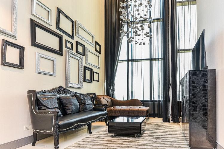 Duplex Classic Modern White Black Chic Decor 1 Bedroom Sale Phromphong