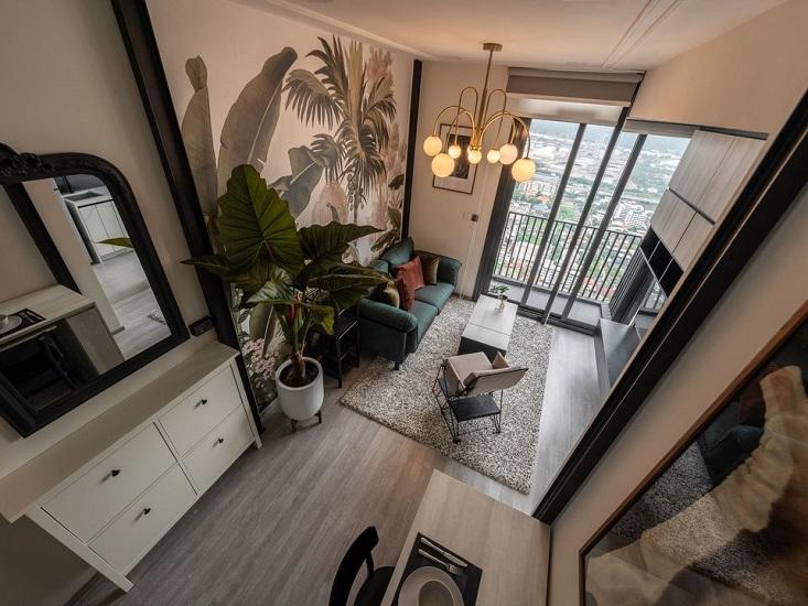 Nice View Duplex 1 Bedroom Condo Rent BTS Punnawithi True Digital