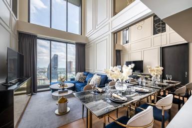 Highest Floor Duplex Penthouse 2 Bedroom Condo Rent Thonglor