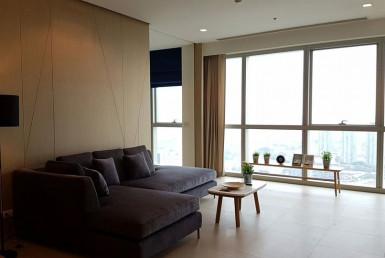 River View High Floor 2 Bedroom Condo Rent Chaopraya Sathorn